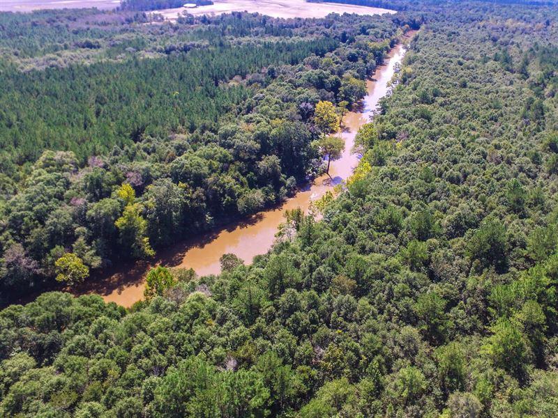 Reduced Hunting Camp On Pea River : Samson : Geneva County : Alabama