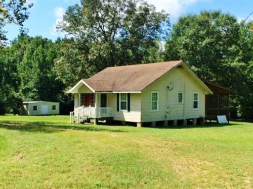 Turnkey Camp And 45 Acres In Wal : Jayess : Walthall County : Mississippi