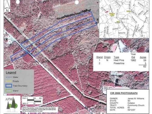 60 Acres Hunting Land For Sale in : Lodge : Colleton County : South Carolina