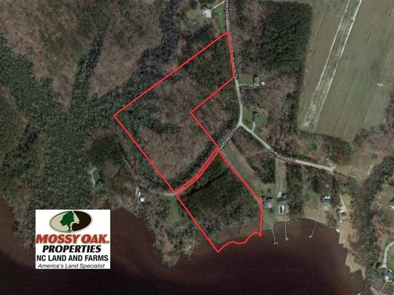 20 Acres of Waterfront Residential : Shiloh : Camden County : North Carolina