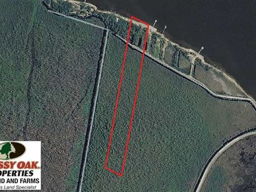 10 Acre Waterfront Lot For Sale in : Mashoes : Dare County : North Carolina