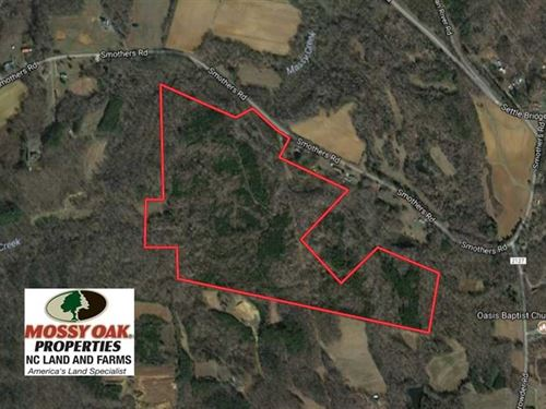 81.57 Acres of Prime Hunting And : Madison : Rockingham County : North Carolina