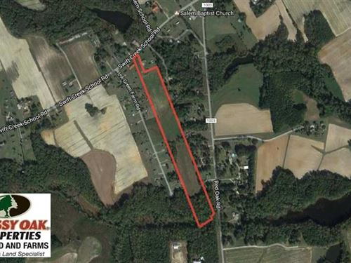 15 Acres of Farm Land For Sale in : Red Oak : Nash County : North Carolina