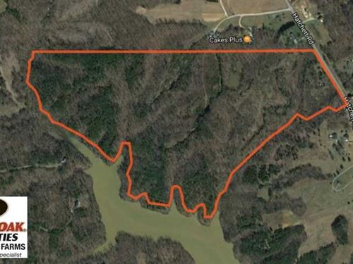 111 Acres of Waterfront Hunting La : Yanceyville : Caswell County : North Carolina