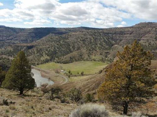 276 Acre River Bend Ranch in Kimbe : Kimberly : Grant County : Oregon