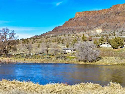 20 Acres With Home on John Day Riv : Mitchell : Wheeler County : Oregon