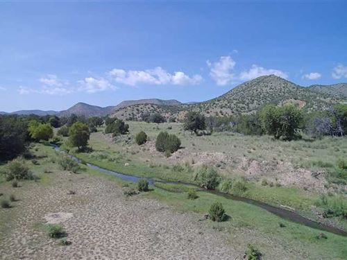 59 Acres With Rio Bonito River Fro : Lincoln : New Mexico
