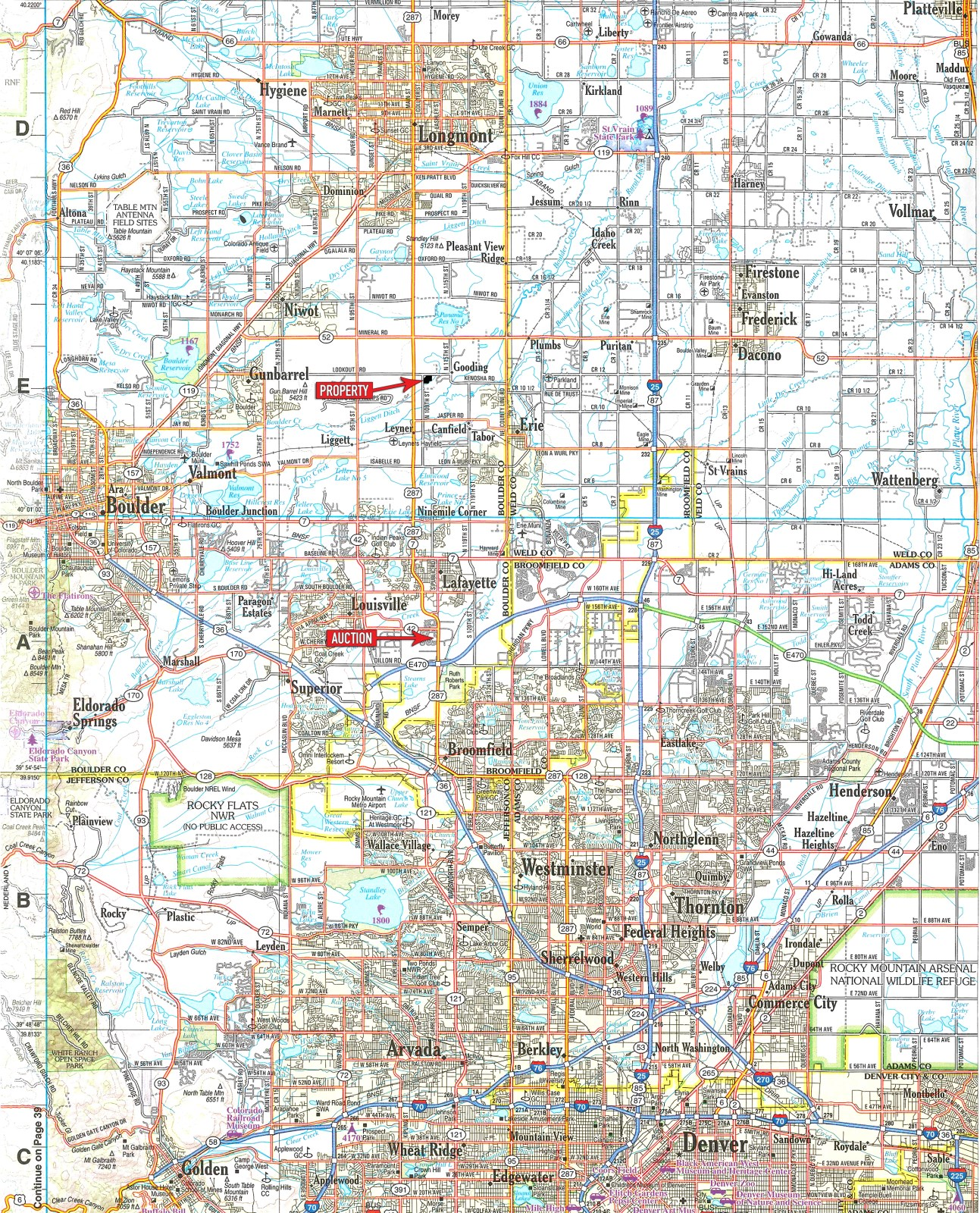 Aerial Photography Map Of Highlands Ranch Co Colorado: Land & Water Rights Auction : Ranch Auction : Longmont