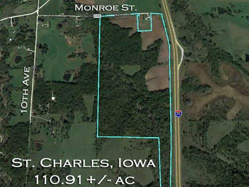110 Ac., M/L, Timber Property For : Saint Charles : Warren County : Iowa