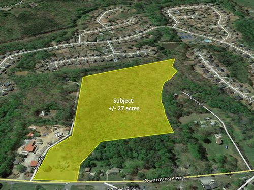 27 Acres Of Residential Land : Canton : Cherokee County : Georgia