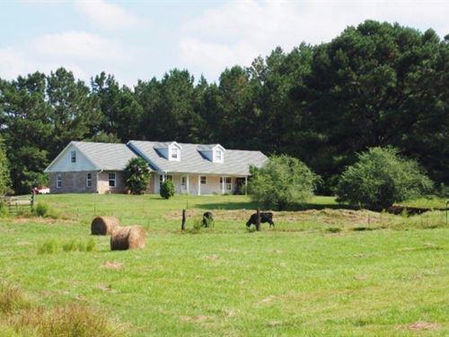 House Pastureland Pond Barn Corral : Kokomo : Walthall County : Mississippi