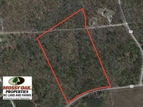 21.27 Acres of Recreational Land : Stoney Creek : Dinwiddie County : Virginia