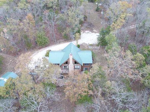 Bourbeuse River Log Home on 13.49 : Rosebud : Gasconade County : Missouri