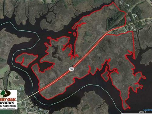 Under Contract, 286 ac Waterfront : Leechville : Hyde County : North Carolina