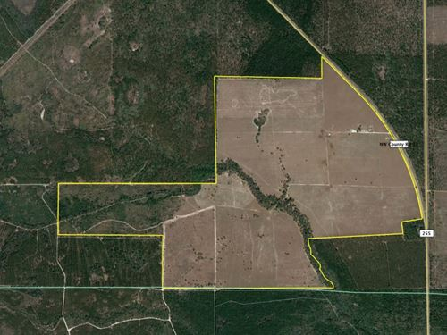 653 Acres Of Pasture Land W/House : Lee : Madison County : Florida