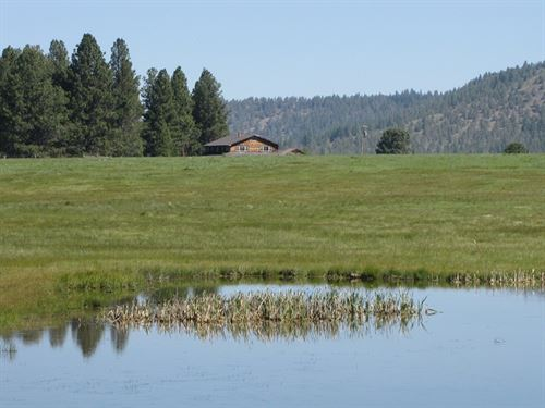Quiet Secluded 475 Acre Ranch : Bonanza : Klamath County : Oregon