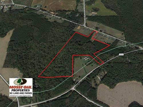 30 Acres of Hunting And Timber La : Middlesex : Wilson County : North Carolina