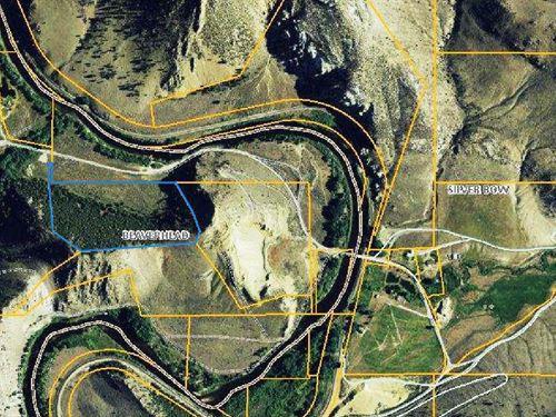 Maiden Rock On The Big Hole River : Divide : Beaverhead County : Montana