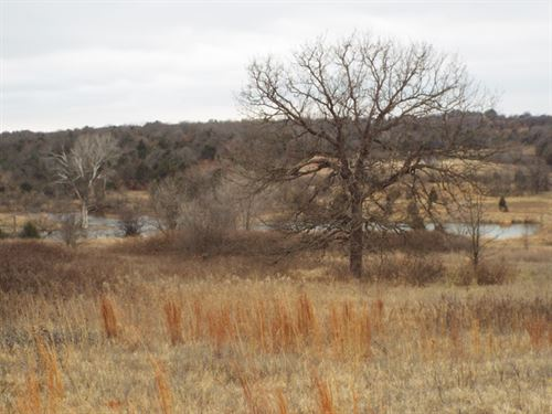 Hobby Farm With Two Ponds : Luther : Lincoln County : Oklahoma