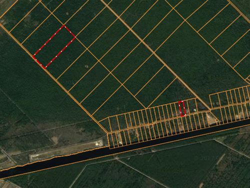 Waterfront Lot/Acreage On Icw : Belhaven : Hyde County : North Carolina