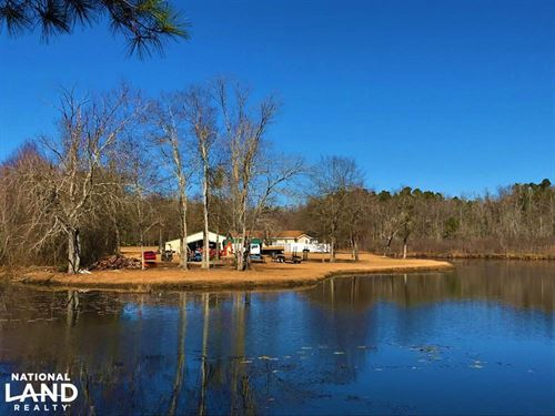 Country Estate With Home And Pond : Williston : Barnwell County : South Carolina