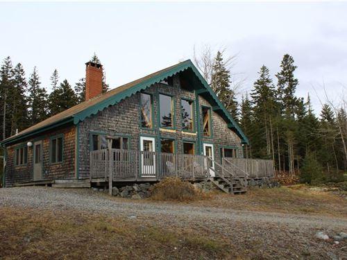 Forest Bluff Retreat W/ Ocean Views : Roque Bluffs : Washington County : Maine