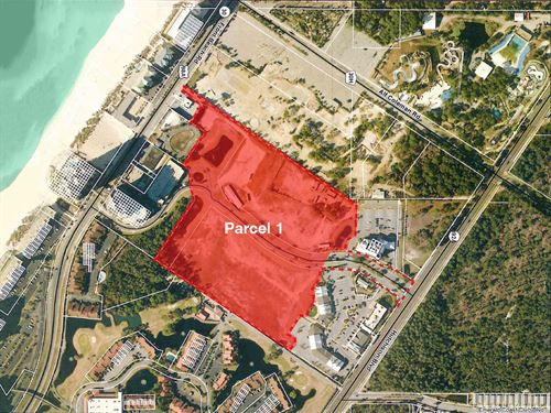 +/- 20.82 Acres, Investment Land : Panama City Beach : Bay County : Florida