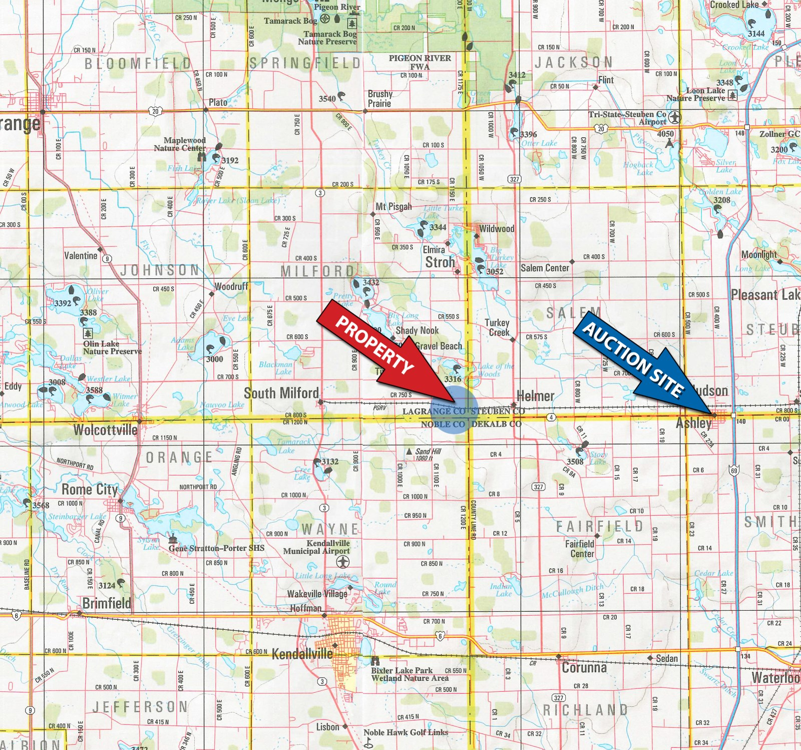 Aerial Photography Map Of Highlands Ranch Co Colorado: 81.54+/- In 3 Tracts : Ranch Auction
