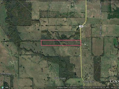 Land For Your Dream Home : Pattonville : Lamar County : Texas