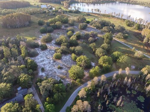 Lakefront Land W/ Multi Road Access : Odessa : Hillsborough County : Florida