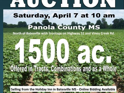 Auction - Farm Land - Gravel - Woo : Batesville : Panola County : Mississippi