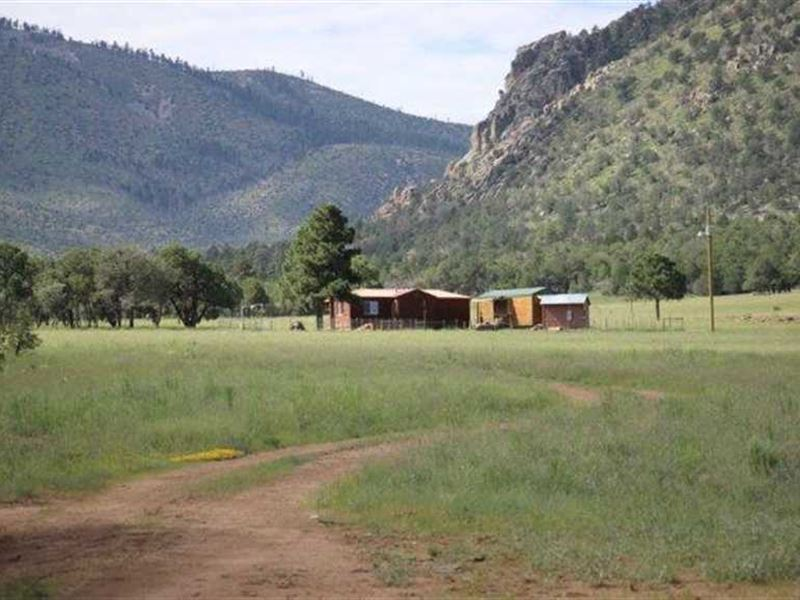 Log Cabin on 644 Acres With Elk Hu : Capitan : Lincoln County : New Mexico
