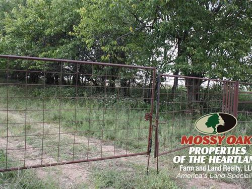 78 Acres of Pasture Land : Humboldt : Woodson County : Kansas
