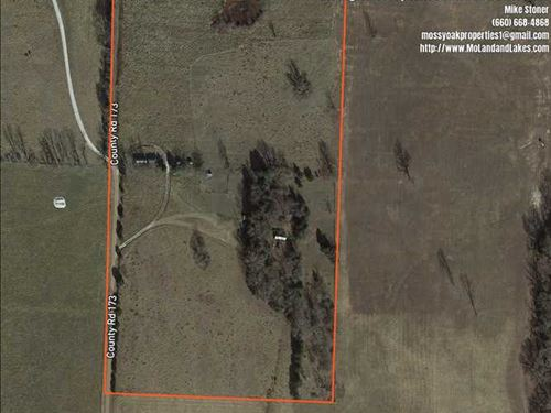 Great 20 Acre Hobby Farm With Cabi : Wheatland : Hickory County : Missouri