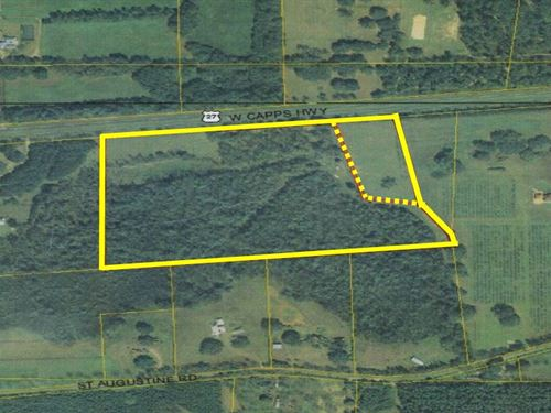 42 Acres On Us Hwy 27 : Monticello : Jefferson County : Florida