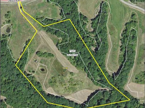 16 Acres M/L, With Cabin For Sale : Moravia : Appanoose County : Iowa
