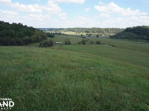 2,417 Acre Cattle Farm & Hunting Pr : Lynnville : Giles County : Tennessee