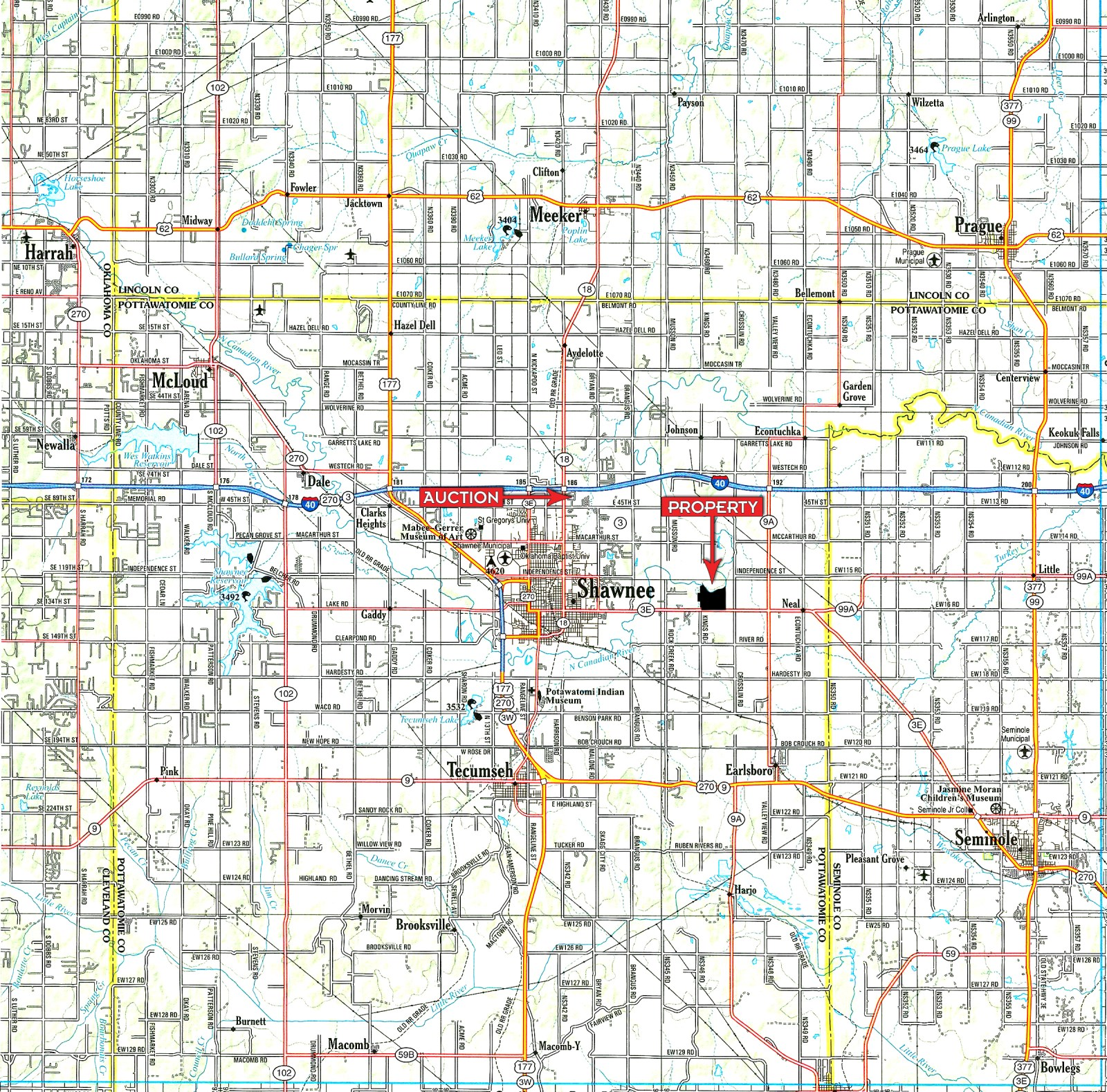 Land Auction In Oklahoma  Ranch Auction  Shawnee  Pottawatomie County  Oklahoma  RANCHFLIP