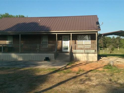 112 Acres With Home : Bagwell : Red River County : Texas