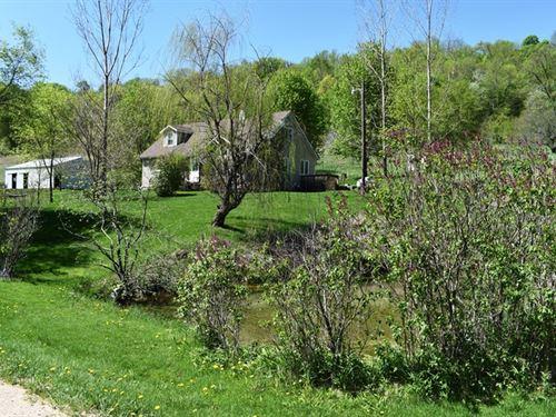 Waterfront County Home/Hobby Farm : Hillsboro : Richland County : Wisconsin