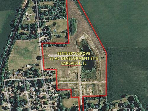 23 Acres Earlville Settler's Grove : Earlville : LaSalle County : Illinois