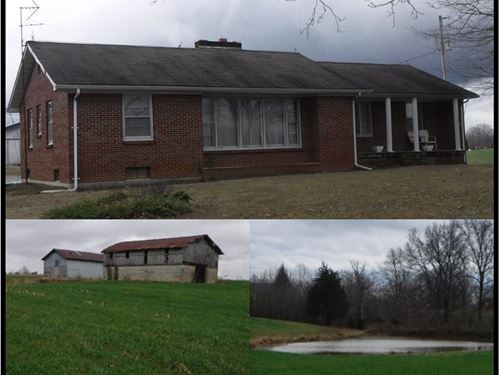 26.47 Ac W/ Hm, Pole Barn, 2 Ponds : Red Boiling Springs : Clay County : Tennessee