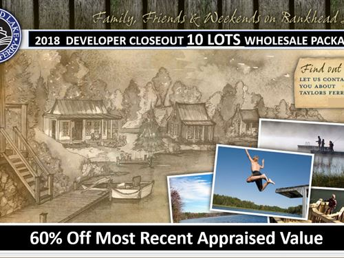 Developer Closeout 10 Water Lots : Parish : Walker County : Alabama
