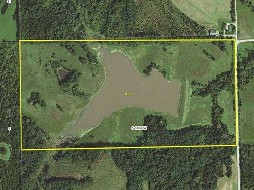80 Acres, M/L, Recreational Farm : Mount Sterling : Van Buren County : Iowa