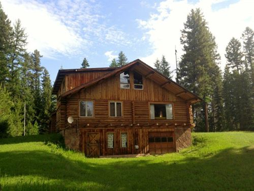 Private Swan River Cabin : Condon : Missoula County : Montana
