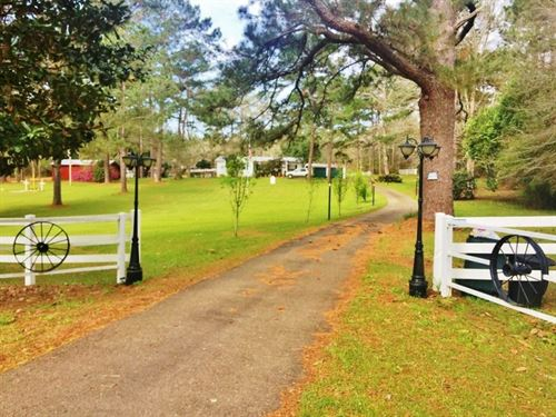 Home & 20+ Acres For Sale Magno : Magnolia : Pike County : Mississippi