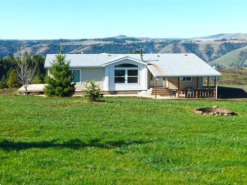 Country Home With 60 Acres For Sale : Kooskia : Idaho County : Idaho