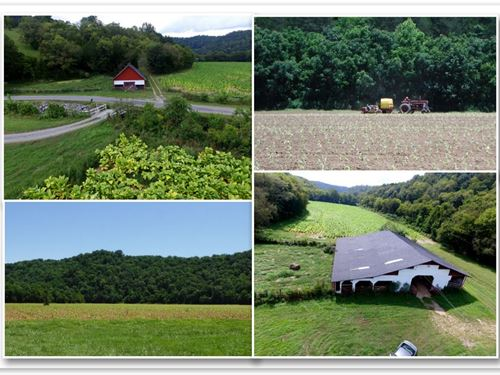 278+ Ac W/ Hm, Barns, Pond, Creeks : Whitleyville : Jackson County : Tennessee
