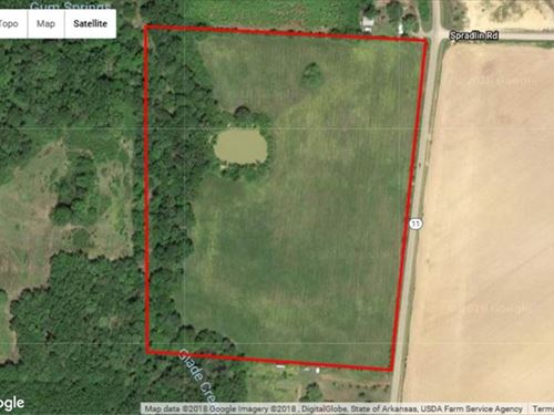 31.5 ac Pastureland Hwy 11 Sea : Searcy : White County : Arkansas
