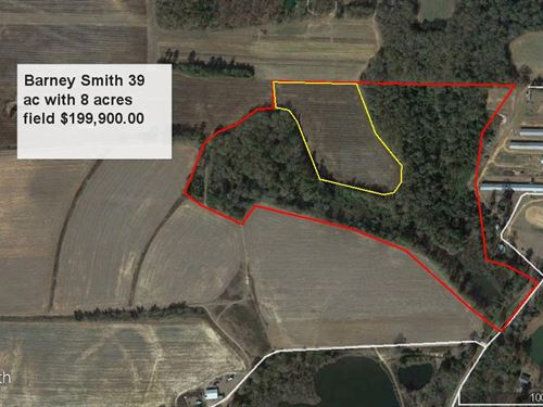 Hardwoods 7 Ac Field 70 Lake Access : Perry : Houston County : Georgia